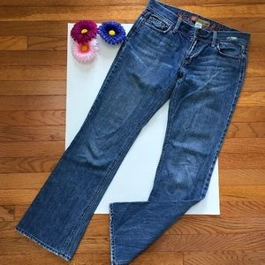 Old Navy Sz 4 Embroidered Bootcut Distressed Jeans